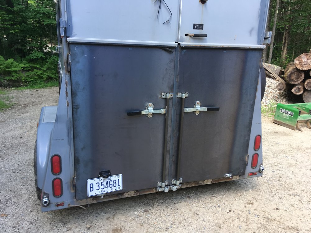 Horse Trailer Repair: New Swing Out Gates