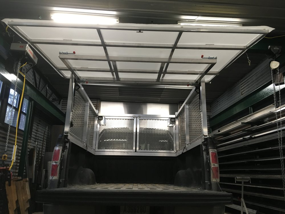 Custom Truck Rack w/ Removable Tailgate Roof for Work Station Cover