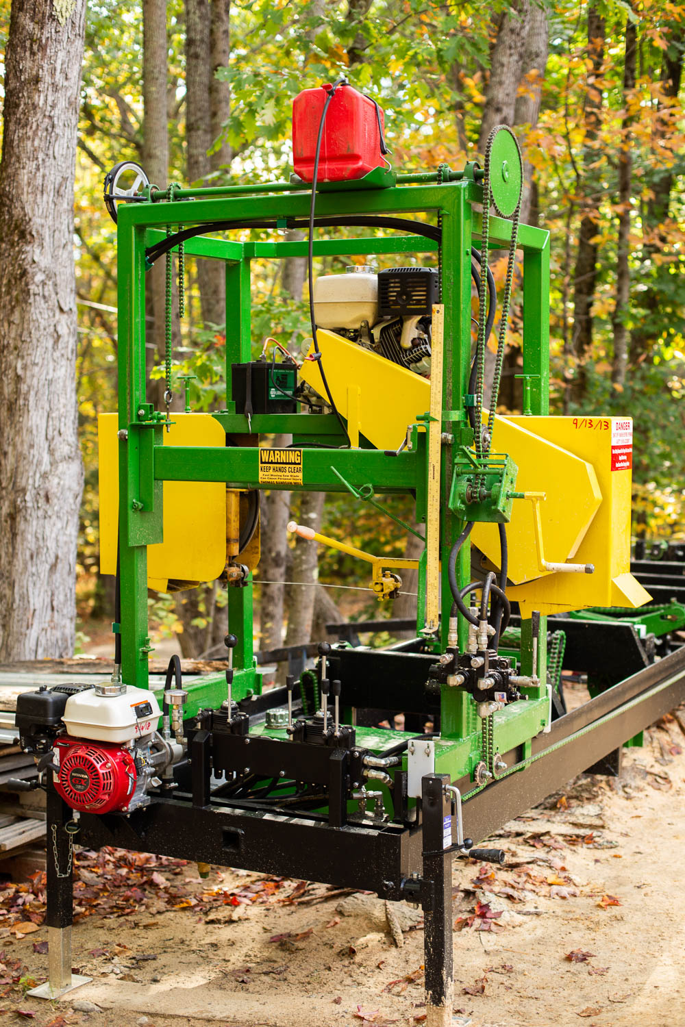 Designed and Fabricated Hydraulic Log Handling Functions to Existing Sawmill