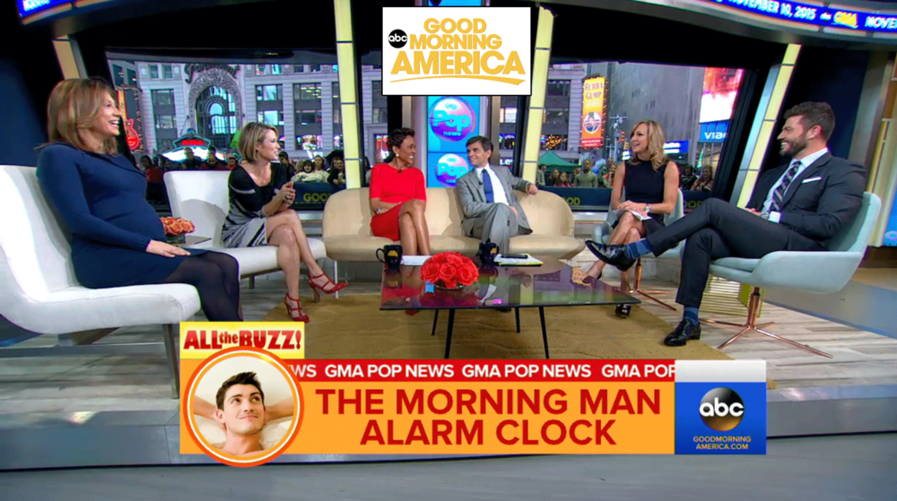 Press for The Morning Man Alarm Clock App designed by Two Eye Monkey as featured on Good Morning America