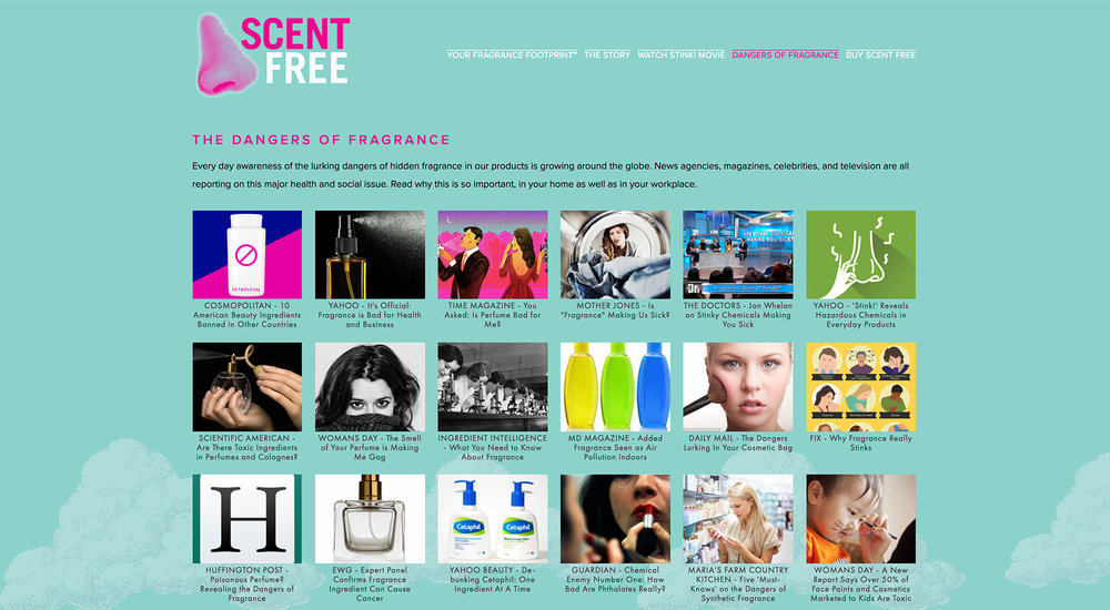 Scent Free website designed by Two Eye Monkey
