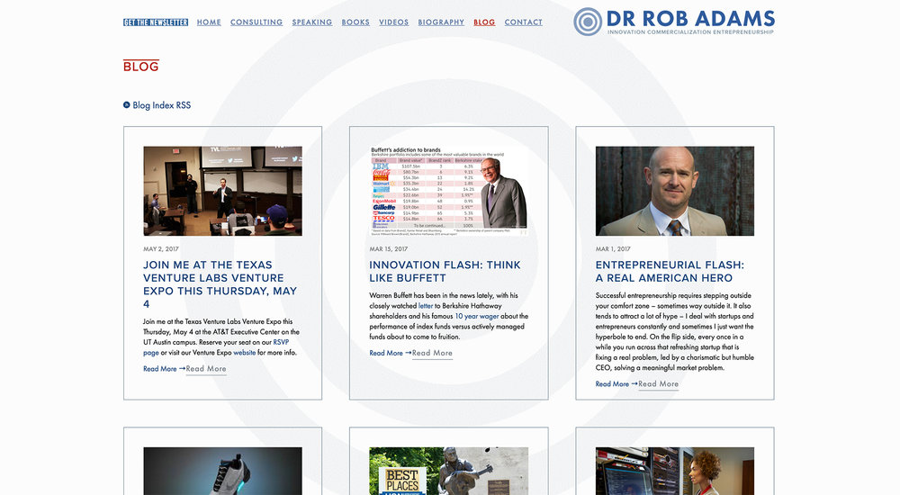Dr. Rob Adams website designed by Two Eye Monkey
