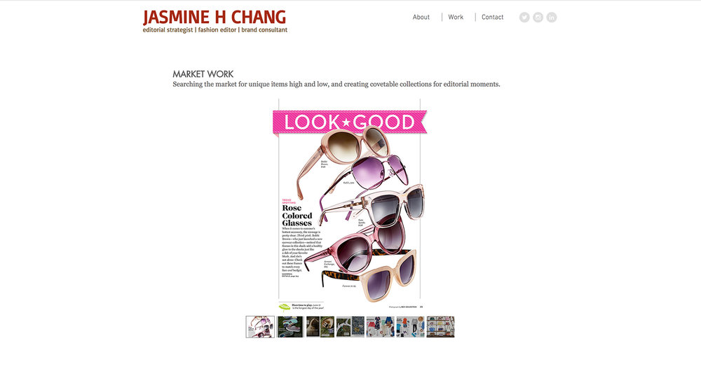 Brand Consultant Jasmine Chang website designed by Two Eye Monkey