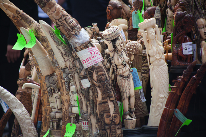 Seized Ivory in New York. Photo credit: Wendy Hapgood