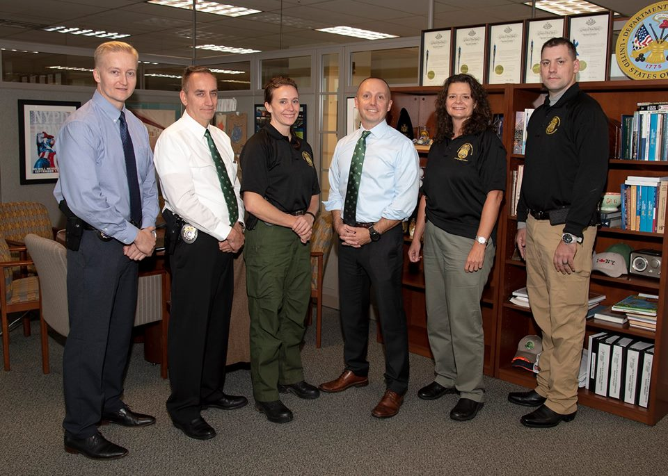 The team of DEC Officers with Commissioner Basil Seggos.