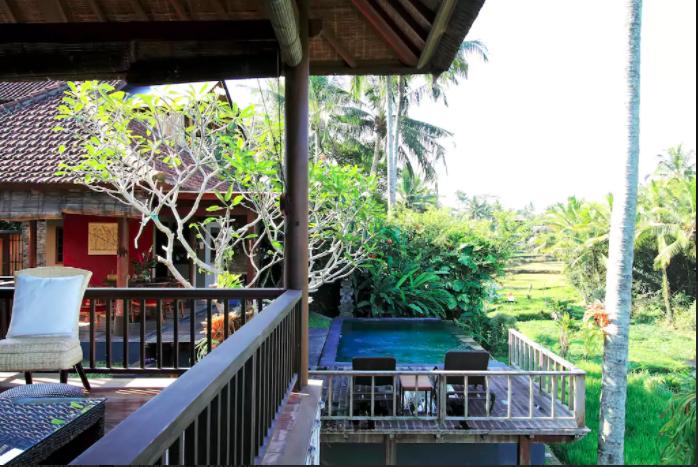 Villa privata nel cuore di Ubud con sistemazione in camera doppia/tripla con bagno privato