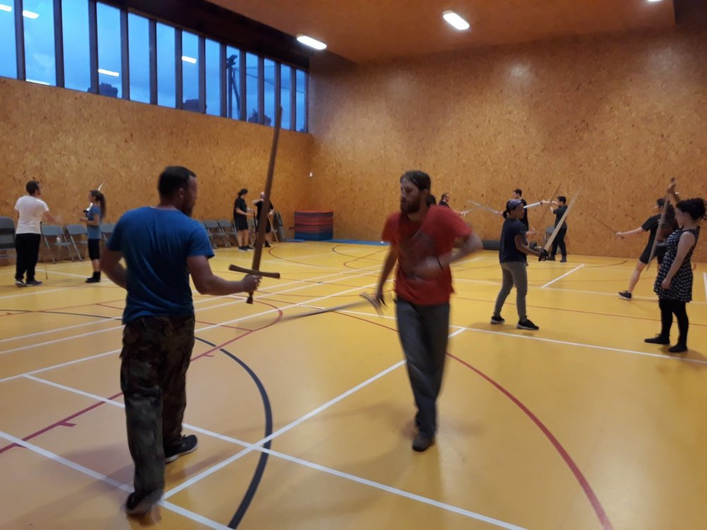 Students practice at Gray School of Arms..jpg