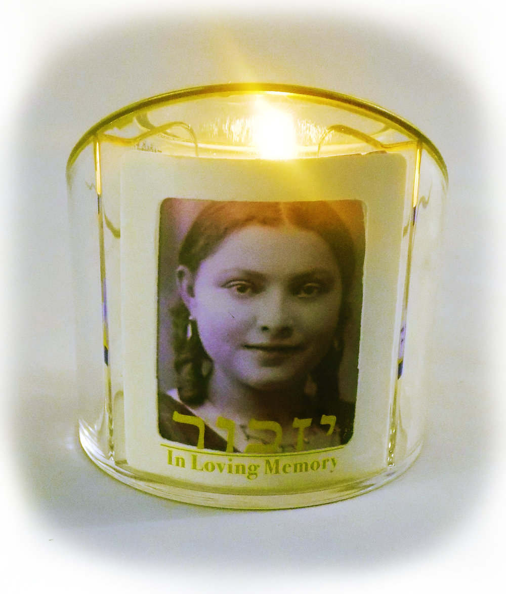 Personalized Yahrzeit Candle Holder - Connect with your lost loved one.