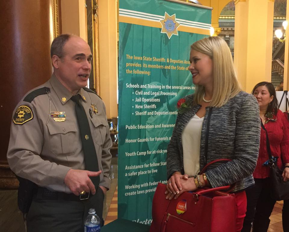 Amber worked with law enforcement, rural voters, Republican legislators and community leaders to improve a dangerous NRA-sponsored gun bill Iowa's 2017 Legislative Session.