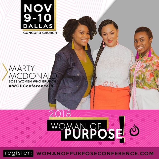 Excited to have the ladies of @BossWomenWhoBrunch speaking at #WOPConference18 ⠀⠀⠀⠀⠀⠀⠀⠀⠀ Marty (@MartyMotivates) put together a team of #BossWomen ,Charity (@c.lewstyles) and Charlene(@texturedtalk). ⠀⠀⠀⠀⠀⠀⠀⠀⠀ ⠀⠀⠀⠀⠀⠀⠀⠀⠀ How many women are ready to support your dream as if it were their own? Their Q&A and panel discussion is for the woman with a desire to build a solid team of #BOSS ladies. A team of women ready to not just talk about your dream, but live your dream and help you achieve it.⠀⠀⠀⠀⠀⠀⠀⠀⠀ ⠀⠀⠀⠀⠀⠀⠀⠀⠀ Use code: BOSS to get $20 off your ticket!⠀⠀⠀⠀⠀⠀⠀⠀⠀ ⠀⠀⠀⠀⠀⠀⠀⠀⠀ #EmpowerHer ⠀⠀⠀⠀⠀⠀⠀⠀⠀ #womanofpurpose