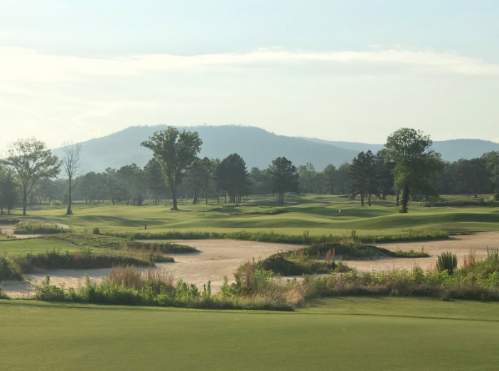 Sweetens Cove Golf Course during the golden hour.