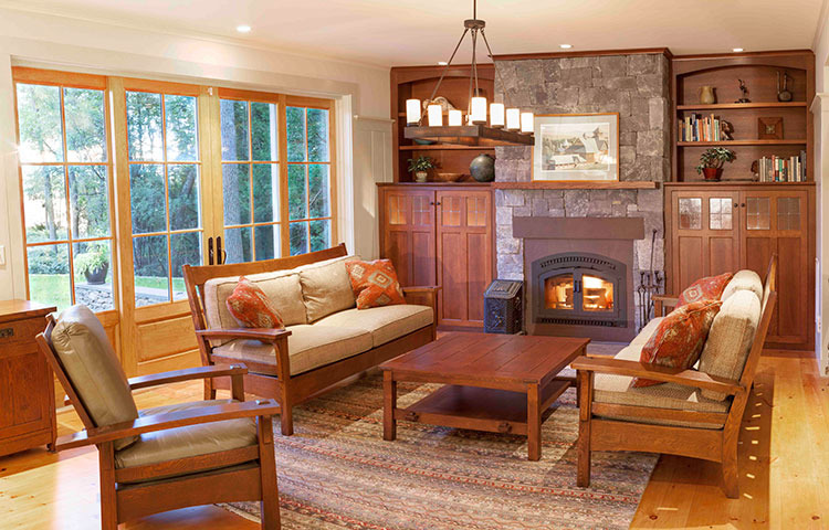 Craftsman Living Room -