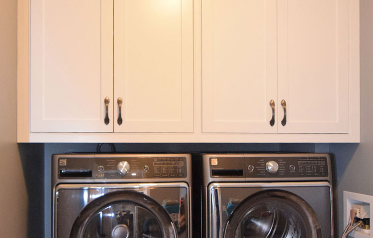 White Laundry Room -