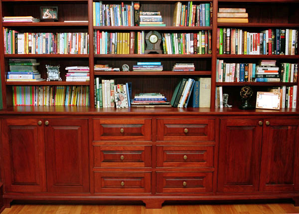 Cherry Bookshelves