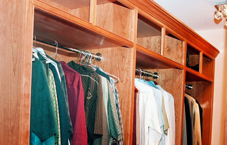 Cherry Beaded Faceframe Closet -