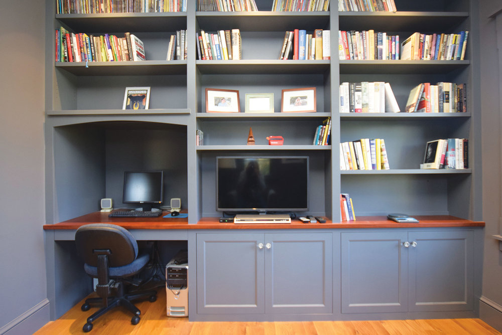 Custom Home Office: Gray
