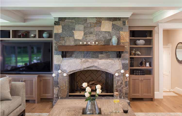 Stone Fireplace Surround -