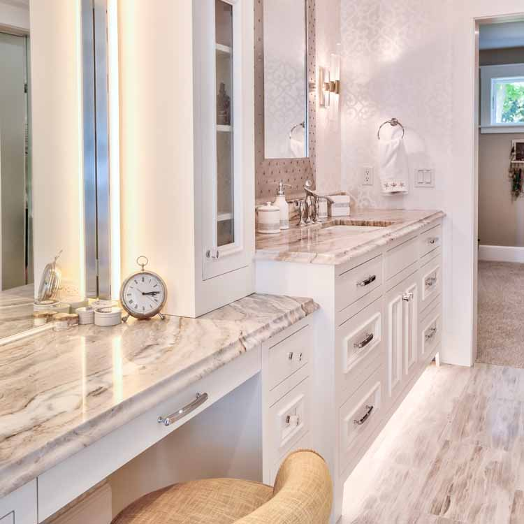 A Woman's Sanctuary - This master bath was made for