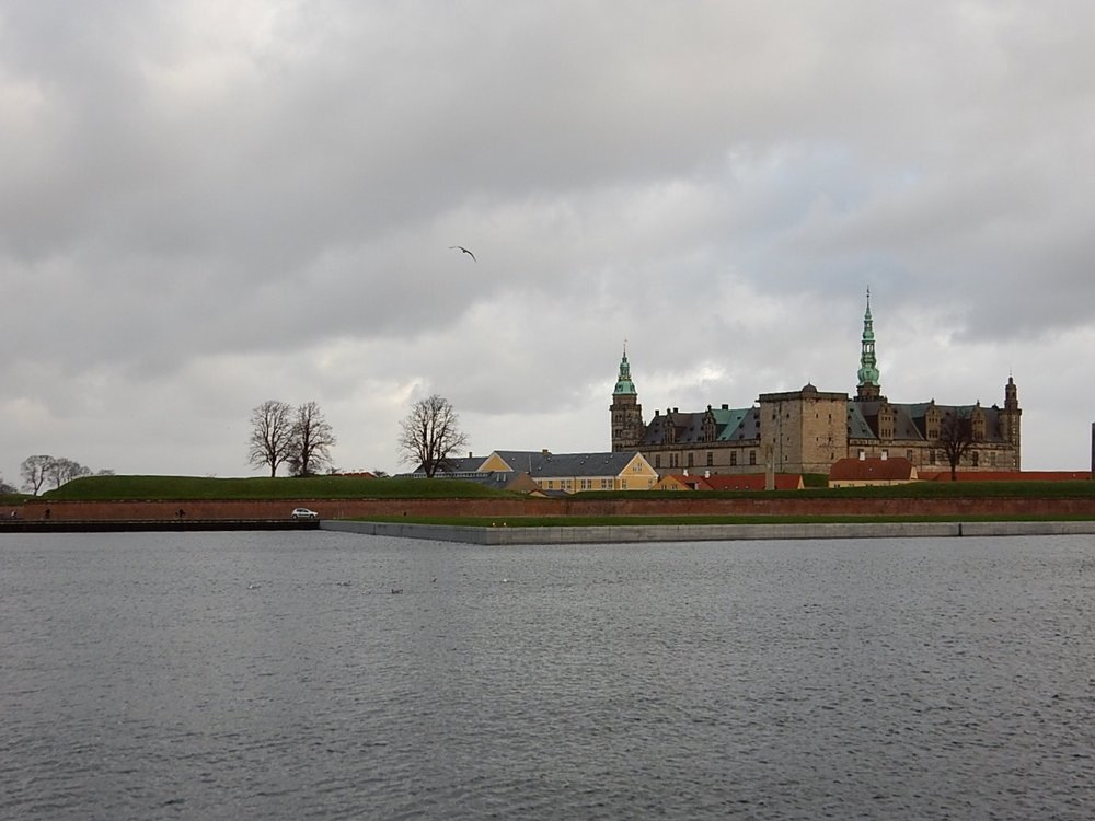 A view of Kronborg across the water.