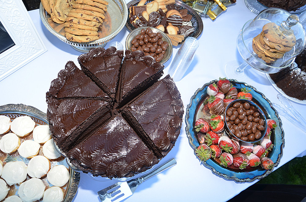 We served up all my favorite treats.A chocolate table is always a good idea!
