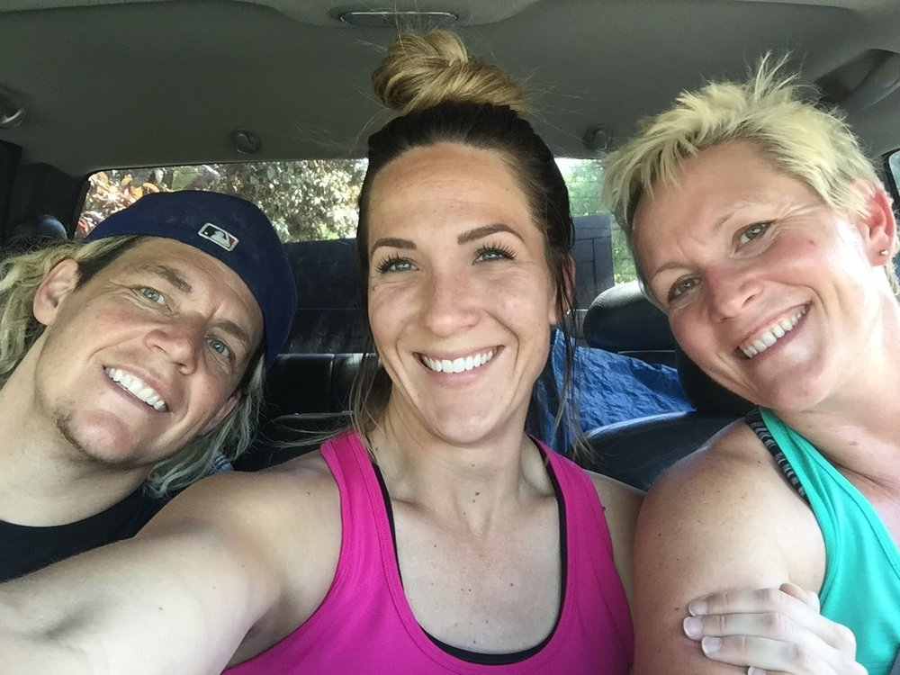 Last picture taken as we drove away from our Dreamfield house. We look happy but we are so tired from all the moving!