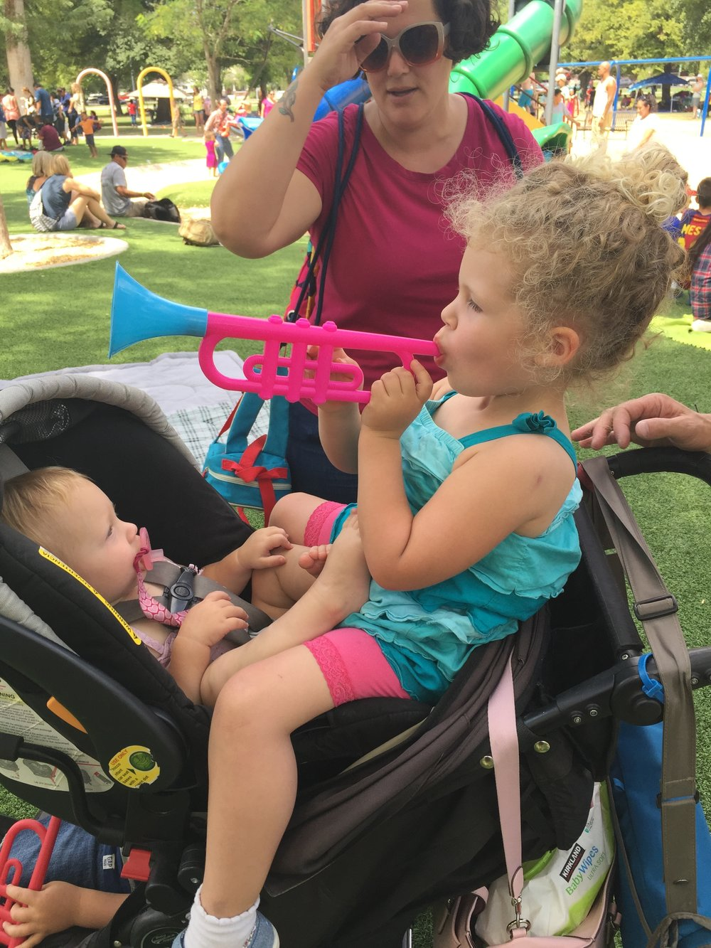 Sharing strollers