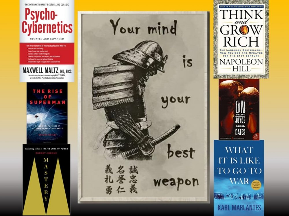 """The man who does not read has no advantage over the man who cannot read.""    ―  Mark Twain     Take advantage of the holidays. Use the extra free time to sharpen the mind and expand your knowledge base. There are countless books out there that force mental evolution and open up new portals of understanding and discovery. It is your job to hunt them down. Here are some of my favorites:      ♦️Psycho-Cybernetics : Don't let the name fool you. Very easy to read. A must for anyone with self-image issues.      ♦️Think and Grow Rich : Considered the bible for entrepreneurs and fed up broke souls. Motivational writing at its finest. Not just about $$.      ♦️Mastery : Bestseller on how to become a black belt in any field of life.      ♦️The Rise of Superman:  Explains that 'in the zone' feeling that every athlete chases.      ♦️On Boxing:  An eloquent quick read on the beauty of the 'sweet science'. Written from a female viewpoint.      ♦️What War is Like : When you think you have it rough, read about true adversity to provide perspective."