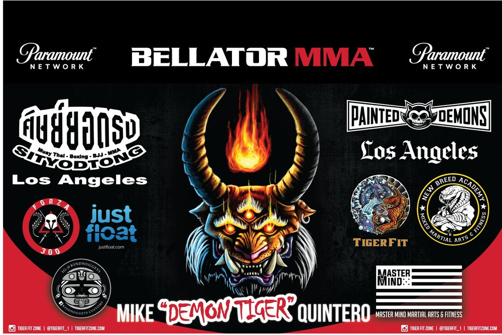My official fight banner. I'm a product of all the special people in my life that push and support me through the years.