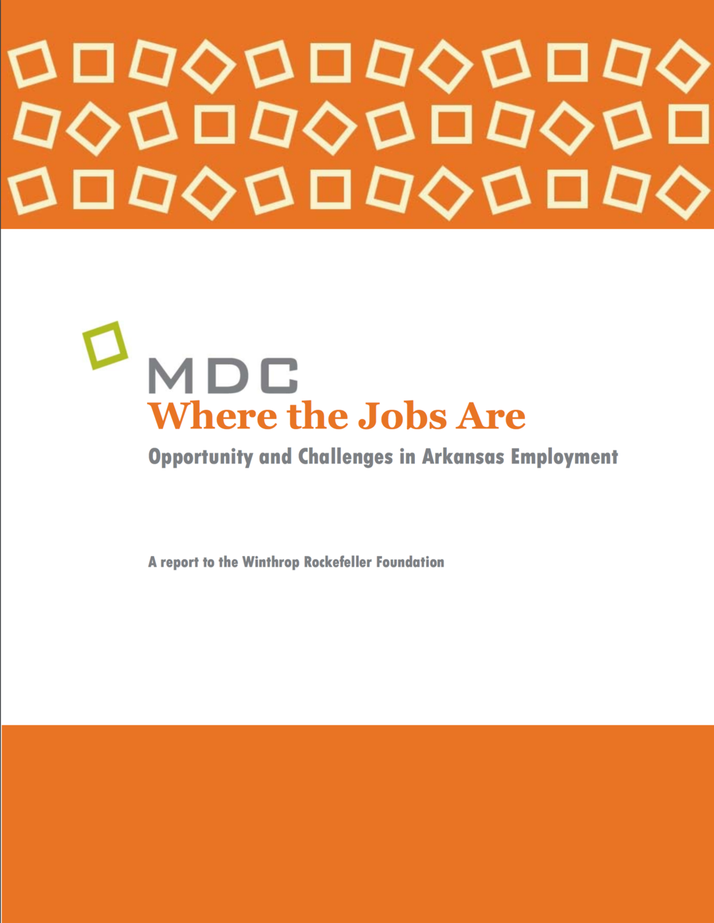 Where the Jobs Are (MDC)