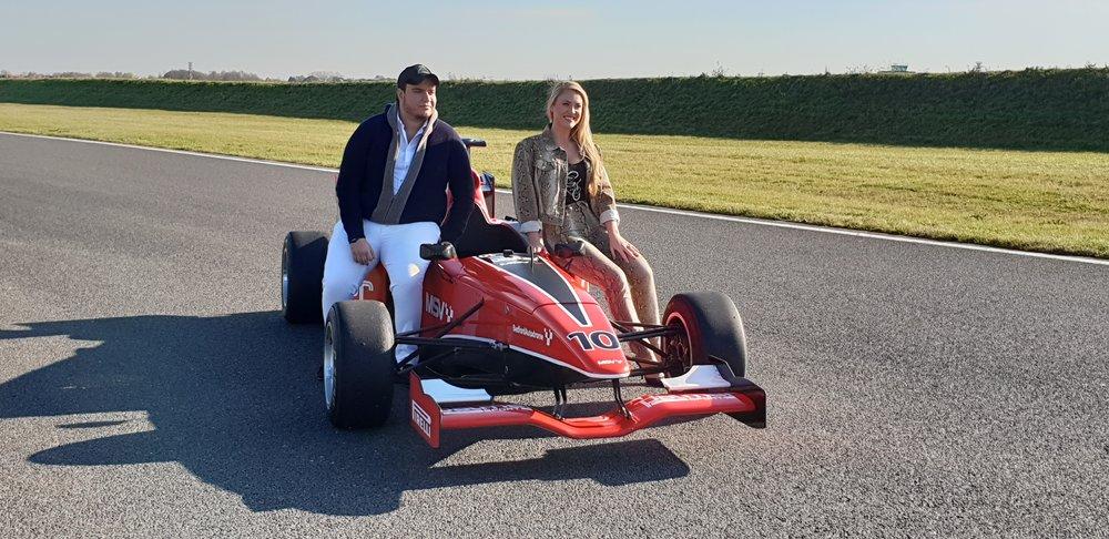 Entrepreneur and Founder Taoufik Khalfi and Camilla Kerslake who is the UK's Brand Ambassador