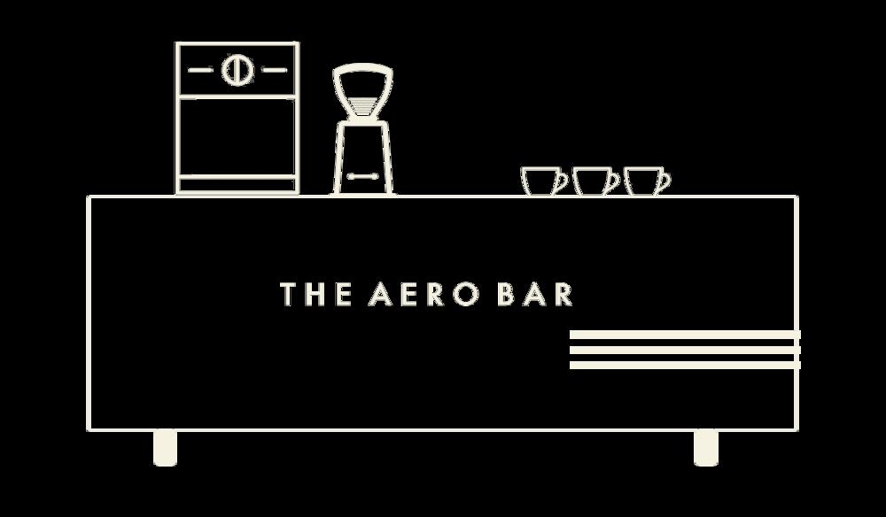 the aero bar pop up coffee bar
