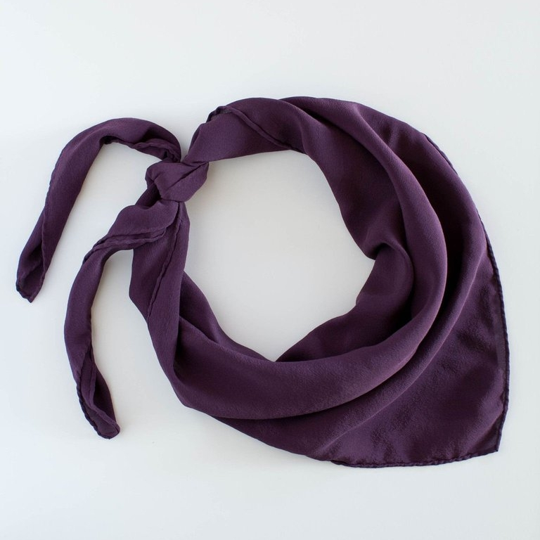'The Classic' Silk Scarf in Aubergine by Tono + Co