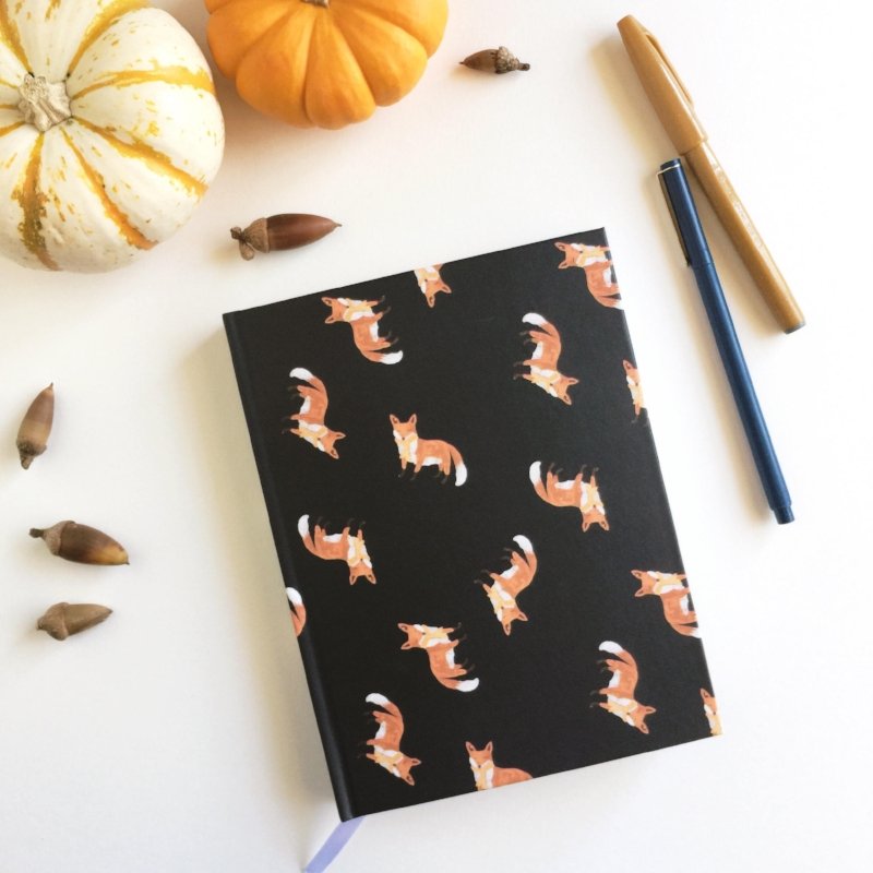 Foxy Hardcover Notebook by sQuinks Art