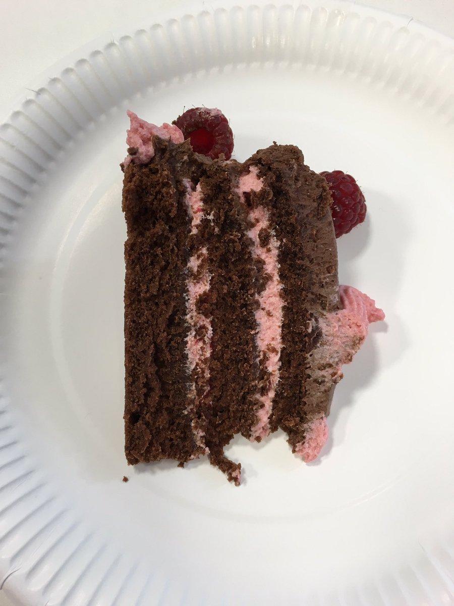 Raspberry chocolate red velvet cake -