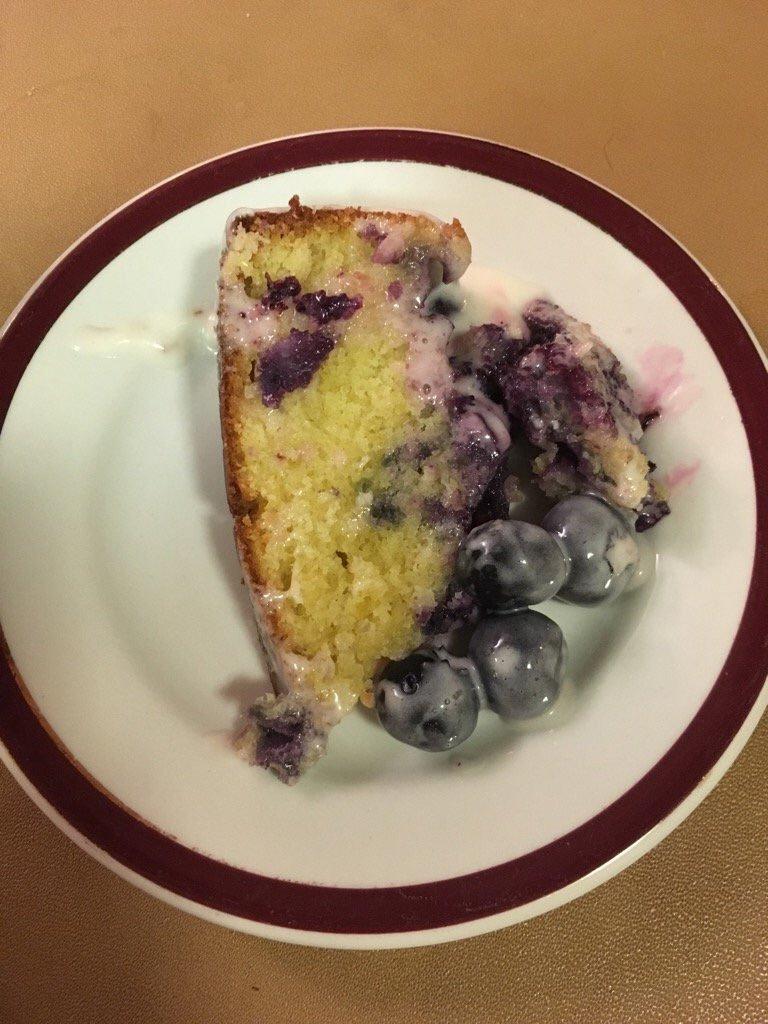 Blueberry lemon slice -