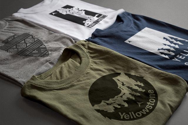 Mockup of shirts