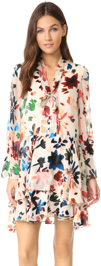 Florals for fall are a must, but finding the right tone can be tricky so I love this dress for that very reason.