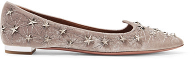 Aquazzura star flats are like a winter wonderland for your feet.