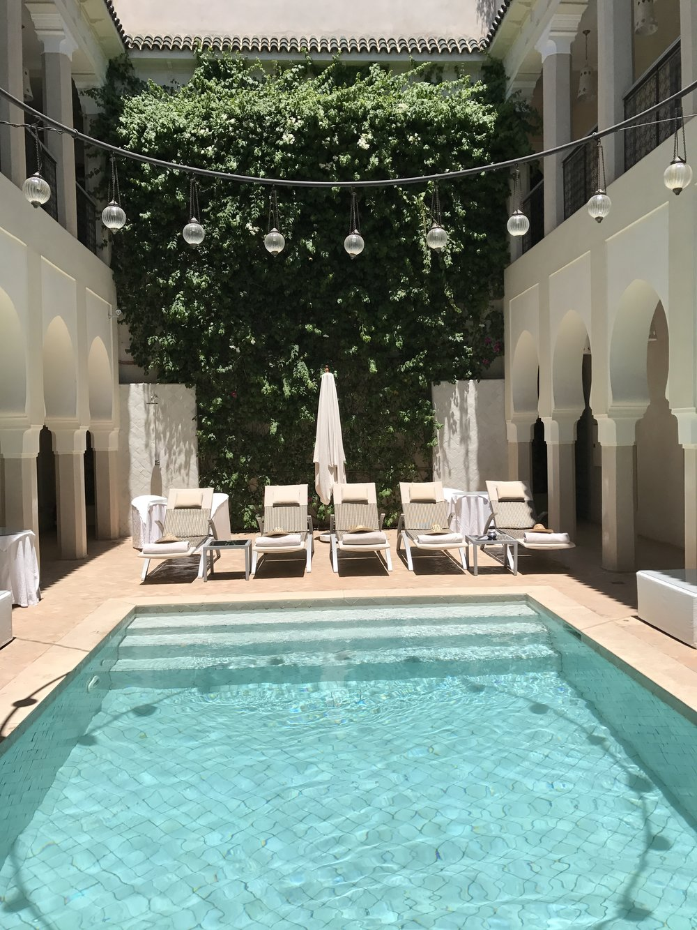 Marrakesh in July is Hot- I mean hot hot- so the pool brought some welcome relief.