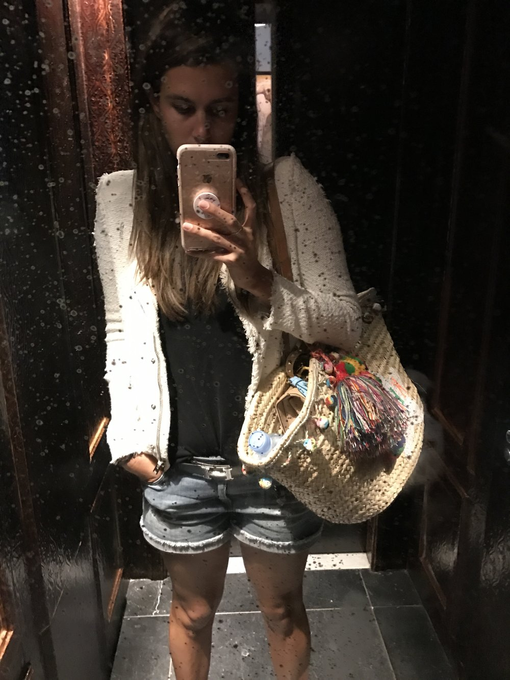 Goodbye- For Now - A shameless elevator selfie (which I wish you could see better- the leather lined walls and antique details made it reminiscent of a jewel box).