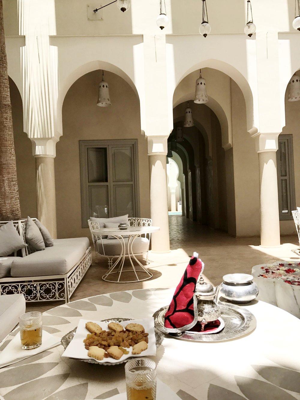Welcome Tea - Riad Nashira