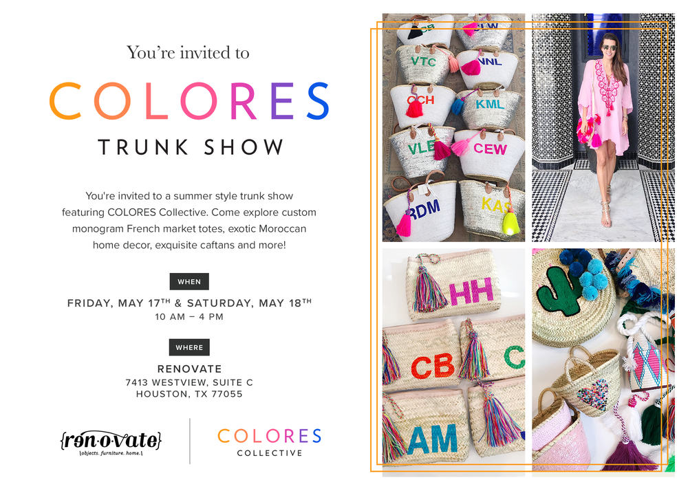 Renovate Houston Trunk Show COLORES Collective