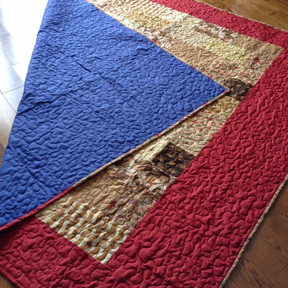 Picnic Blanket - The quilt that started with using all my