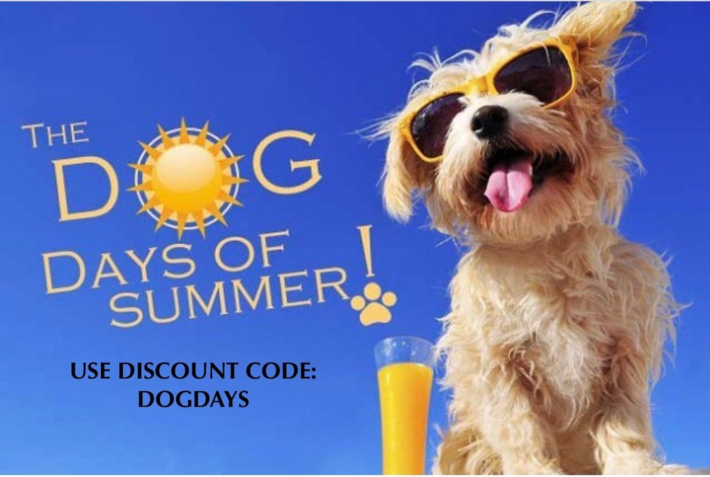 Save 15% using code: DOGDAYS - July 21-28/17