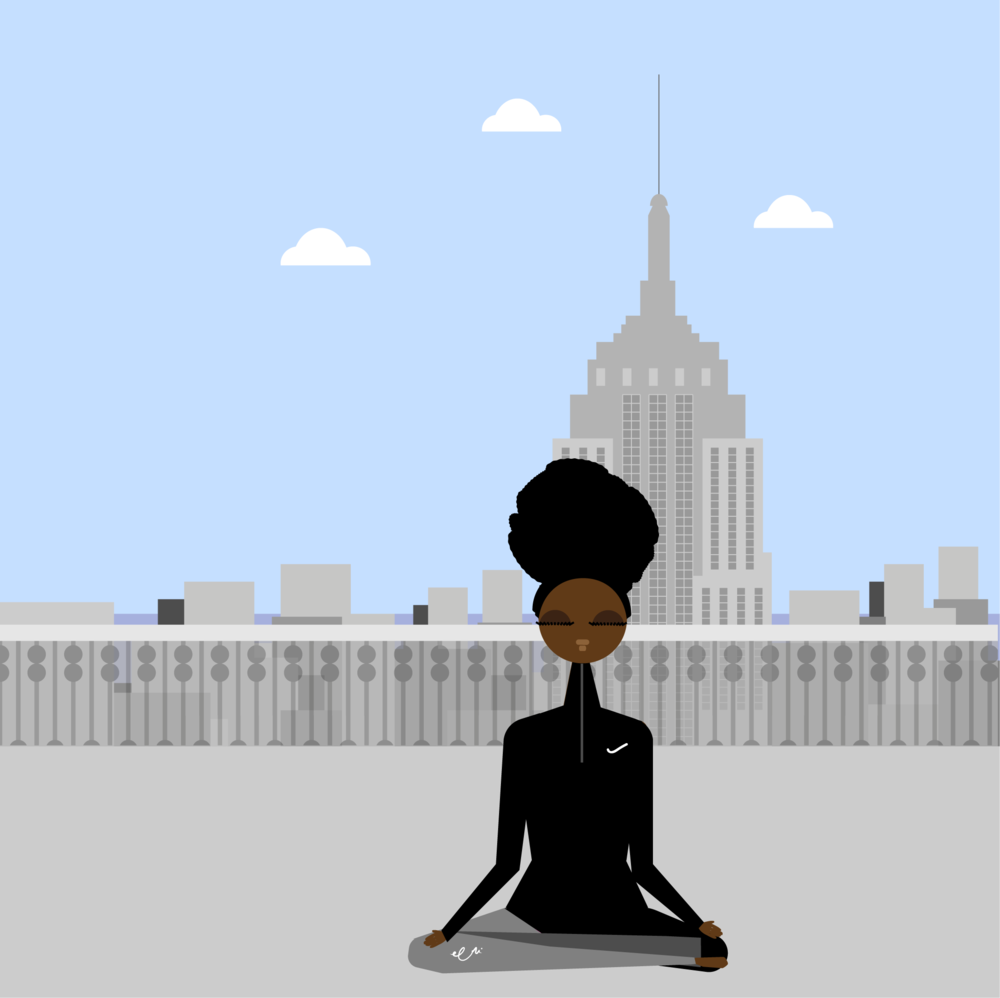 When we break through the ceilings within, nothing will be impossible. How cool is doing yoga with the Empire State building as your backdrop?