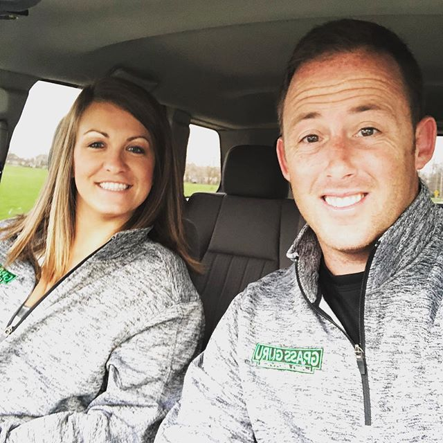 Twinning and representing @grassgurulawns merchandise #grassguru #lawncare #lawns #lawnservice #business #support #merchandise #marketing #wife #husband #happiness