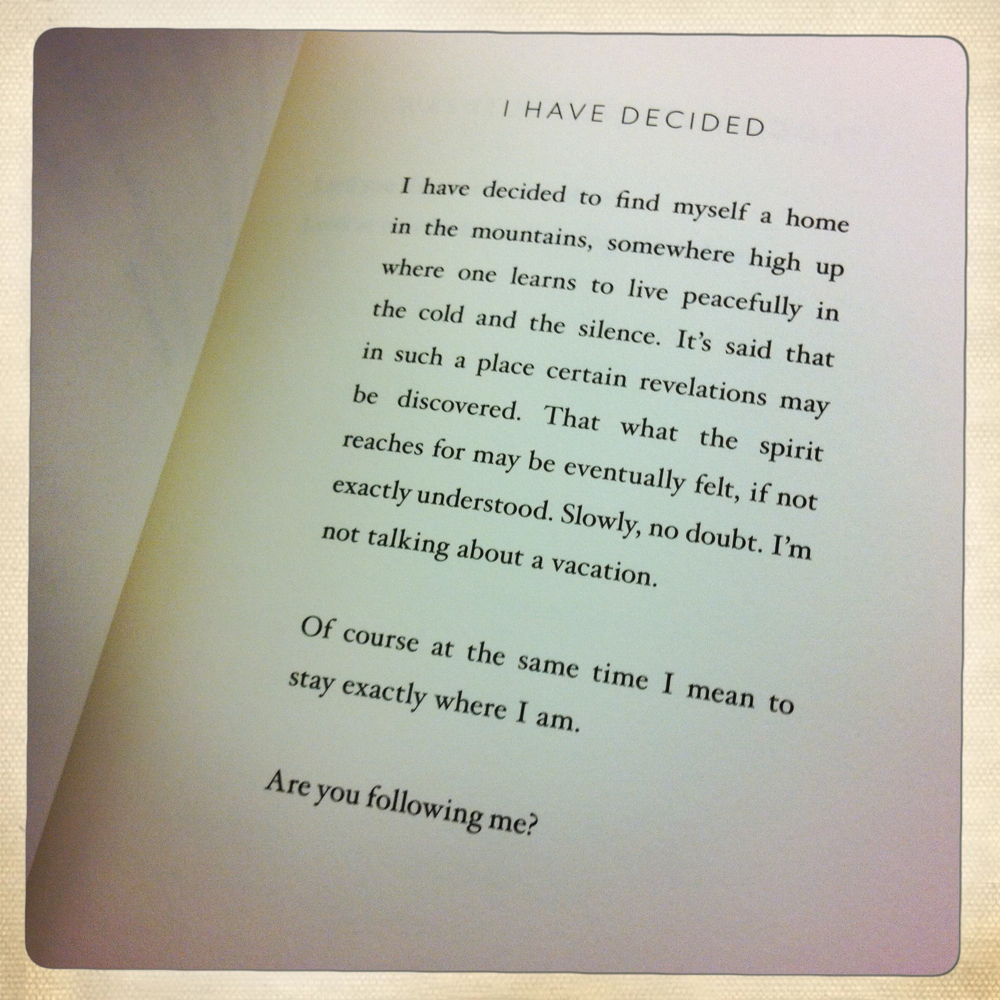 """I Have Decided,"" by Mary Oliver"