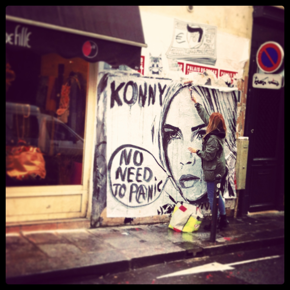 Konny graffiti on the streets of Paris photo credit Kirsten Akens 2014