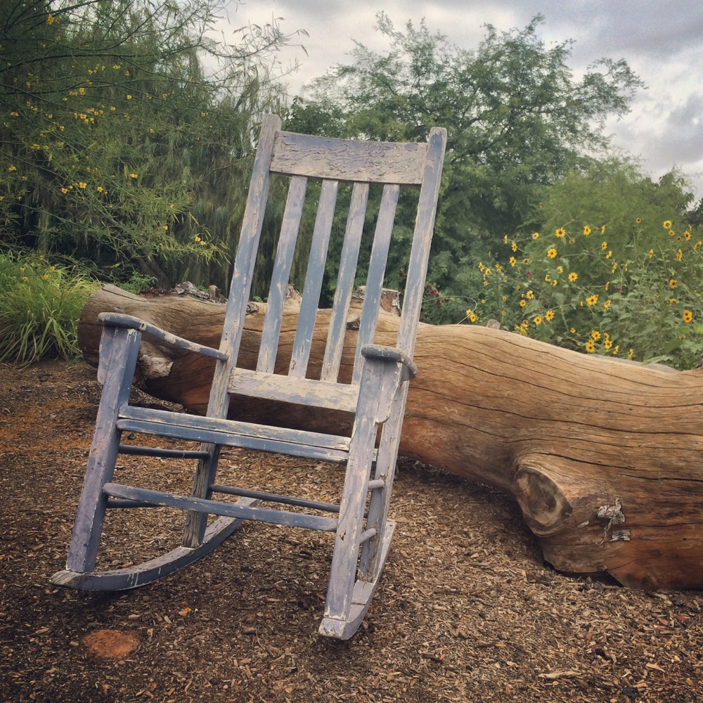 Rocking Chair at Singh Farms in Scottsdale Arizona Credit Kirsten Akens 2015