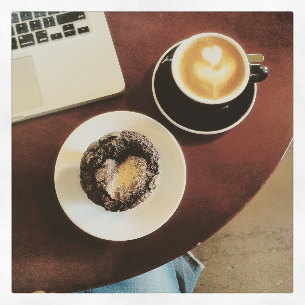 Hearts in coffee and muffin Credit Kirsten Akens August 2015